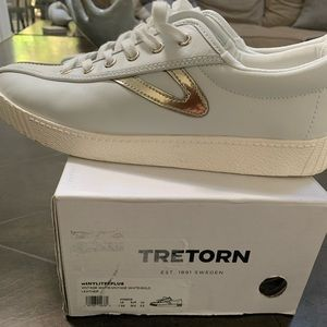 Tretorn leather sneaker. Worn once.